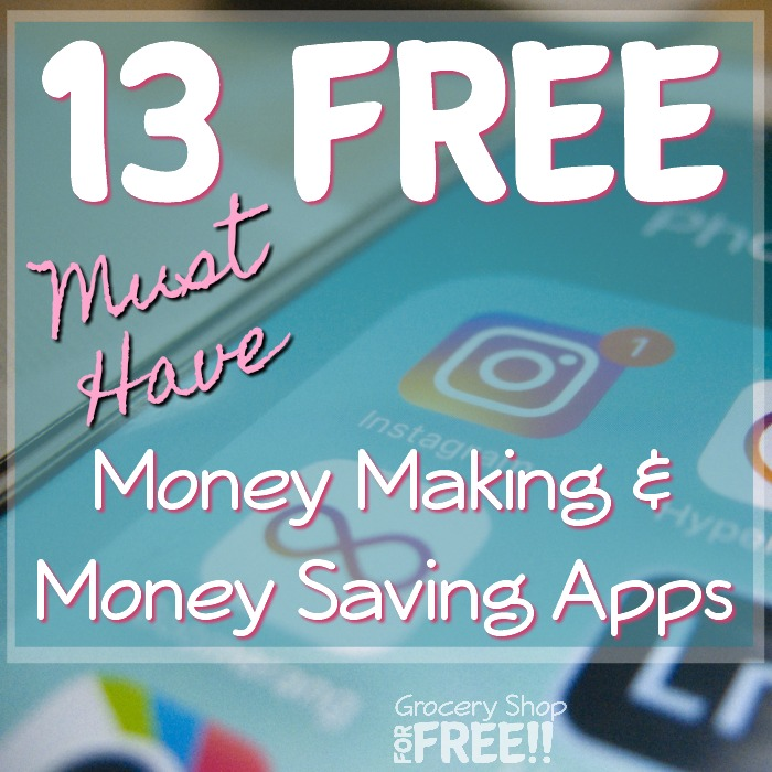 Want to save and make money when you shop?  Check out these 13 FREE Must Have Money Saving AND Money Making Apps I use every week!   You are losing money if you aren't using these apps when you shop!