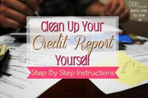 Clean Up Your Credit Report Yourself!