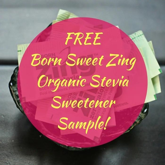 FREE Born Sweet Zing Organic Stevia Sweetener Sample!