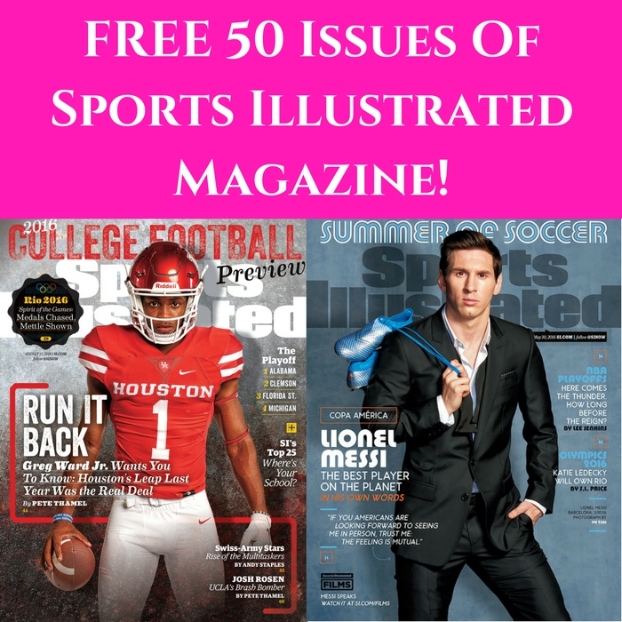 FREE 50 Issues Of Sports Illustrated Magazine!