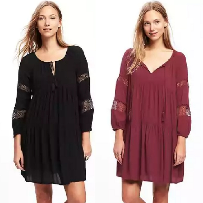 Tiered Lace-Trim Swing Dress Just $19.99! Down From $40!