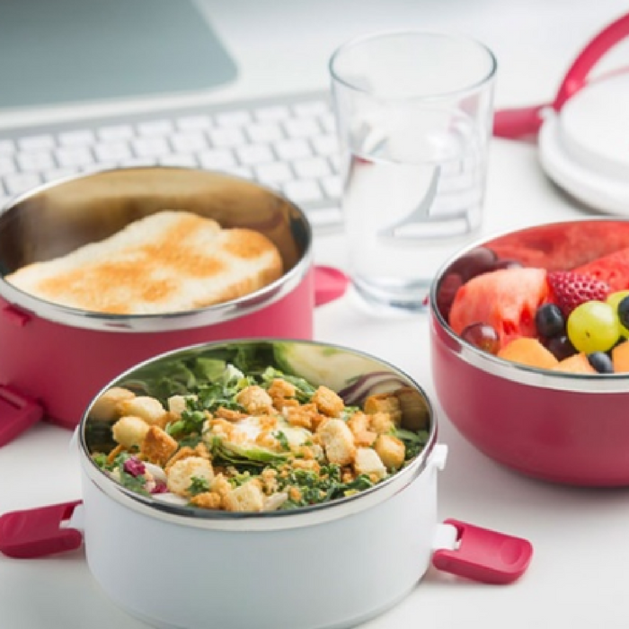 Stainless Steel Stacking Lunch Bowls Just $9.99! Down From $18!