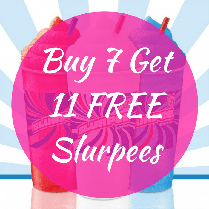 Buy 7 Get 11 FREE Slurpees!