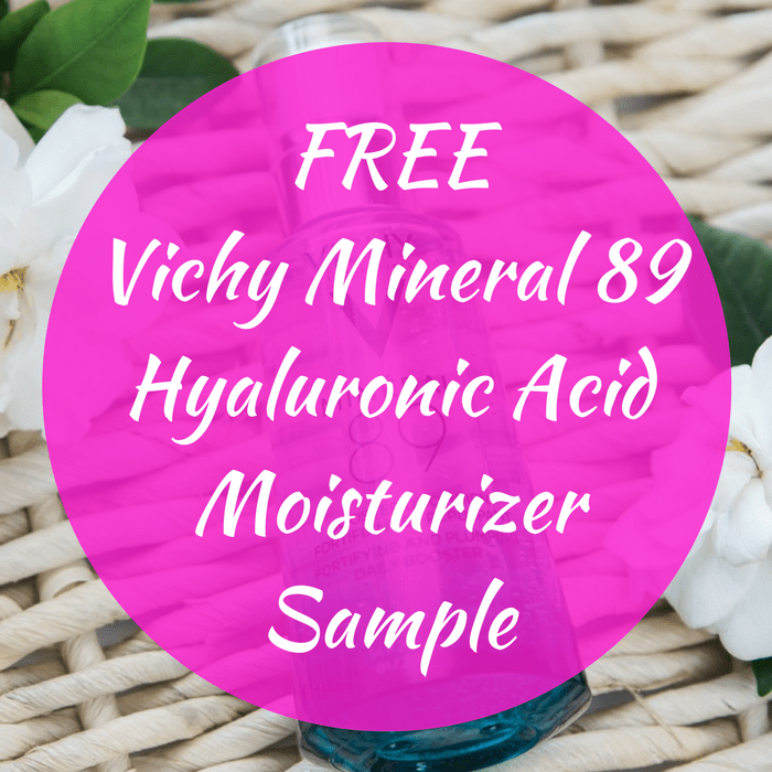 FREE Vichy Mineral 89 Hyaluronic Acid Moisturizer Sample!