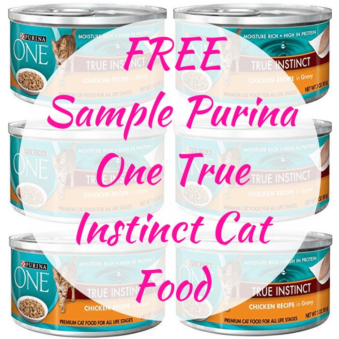 FREE Sample Purina One True Instinct Cat Food!