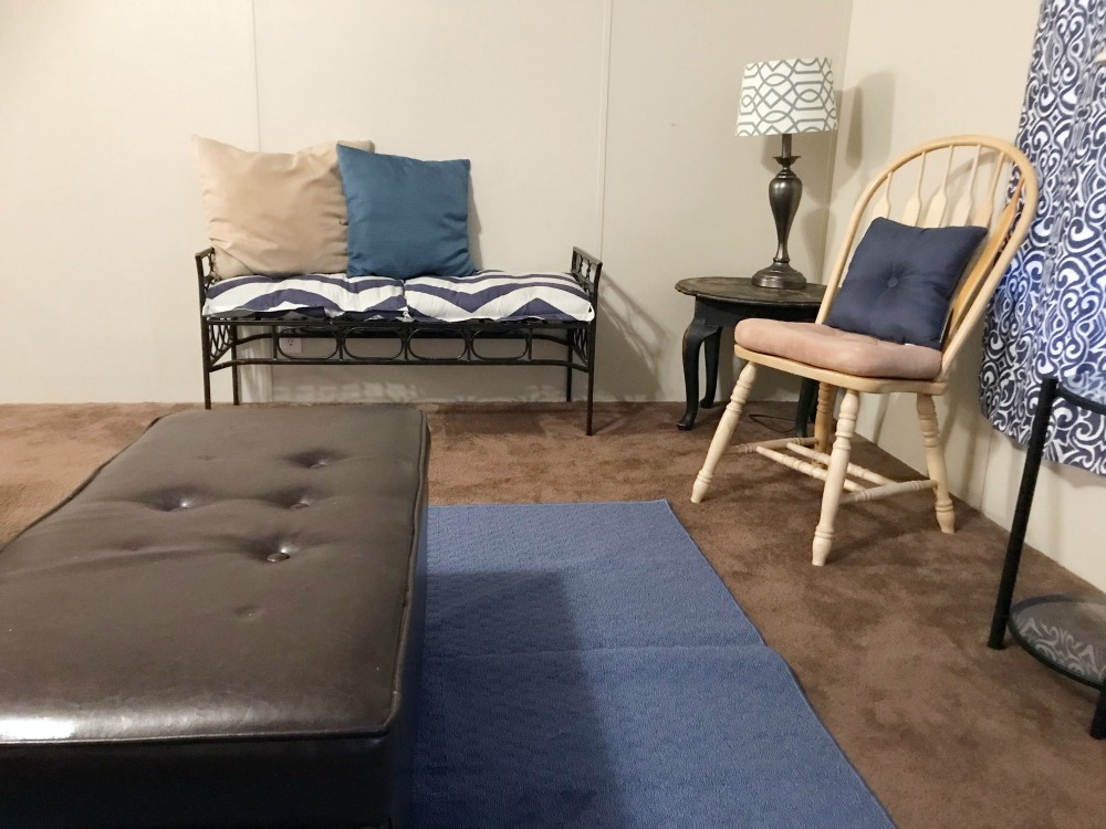 If you're looking to freshen up a room for the holidays then you'll want to check out what we were able to do on a shoestring with awesome pieces from At Home!