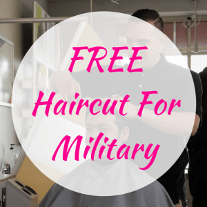 FREE Haircut For Military!