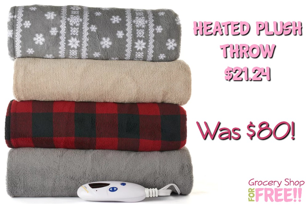 Heated Plush Throw Just $21.24! Down From $80!