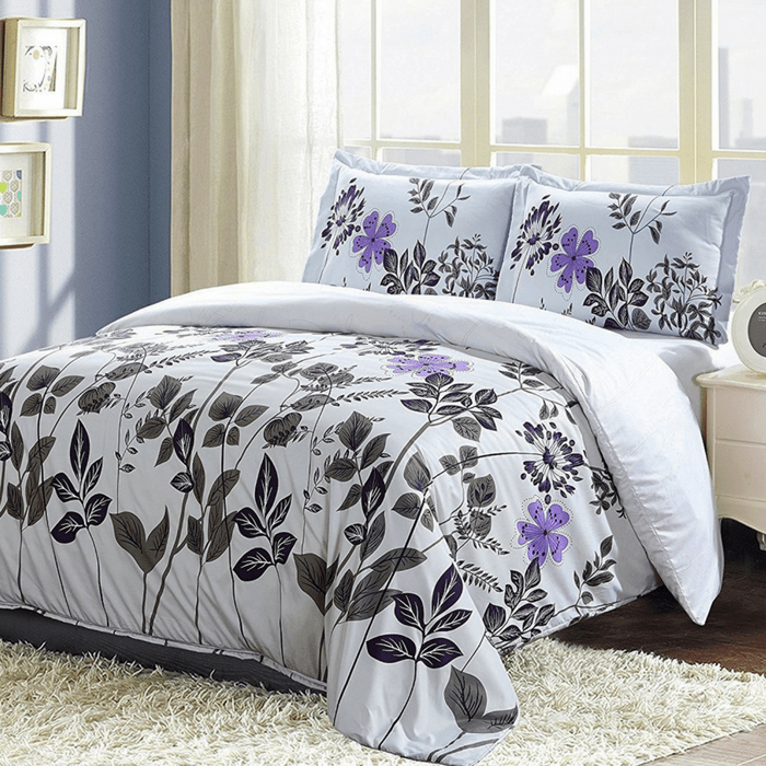 Floral Design Duvet Cover Set Just $18.99! Down From $60!