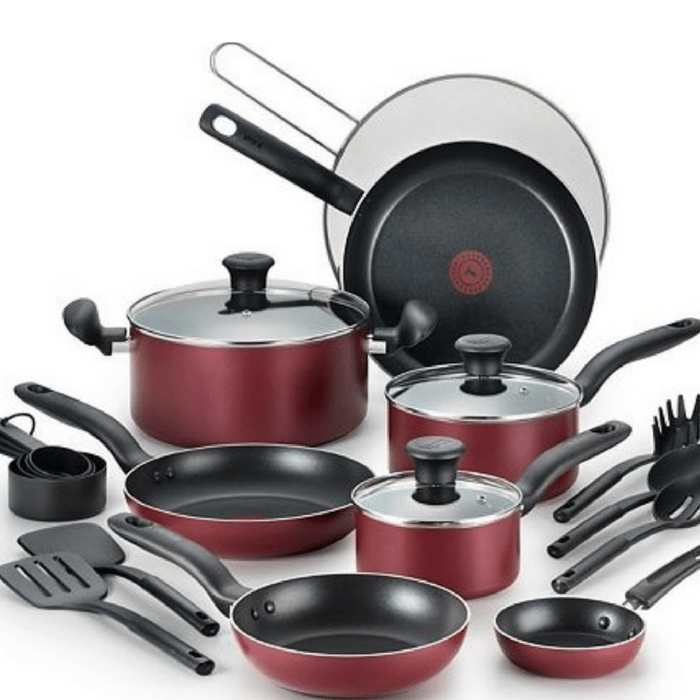 T-Fal 20-Piece Cookware Set Just $24.49! Down From $140! PLUS FREE Shipping!