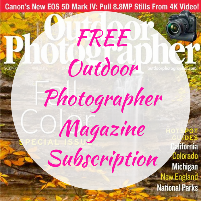 FREE Outdoor Photographer Magazine Subscription!