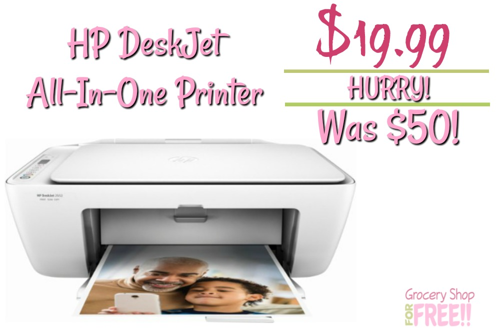 HP DeskJet 2652 Wireless All-In-One Printer Just $19.99! Down From $50!