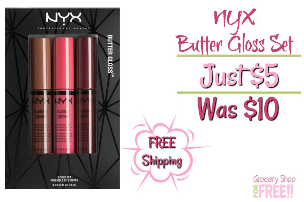 NYX Professional 3Pc Butter Gloss Set Just $5! Down From $10!