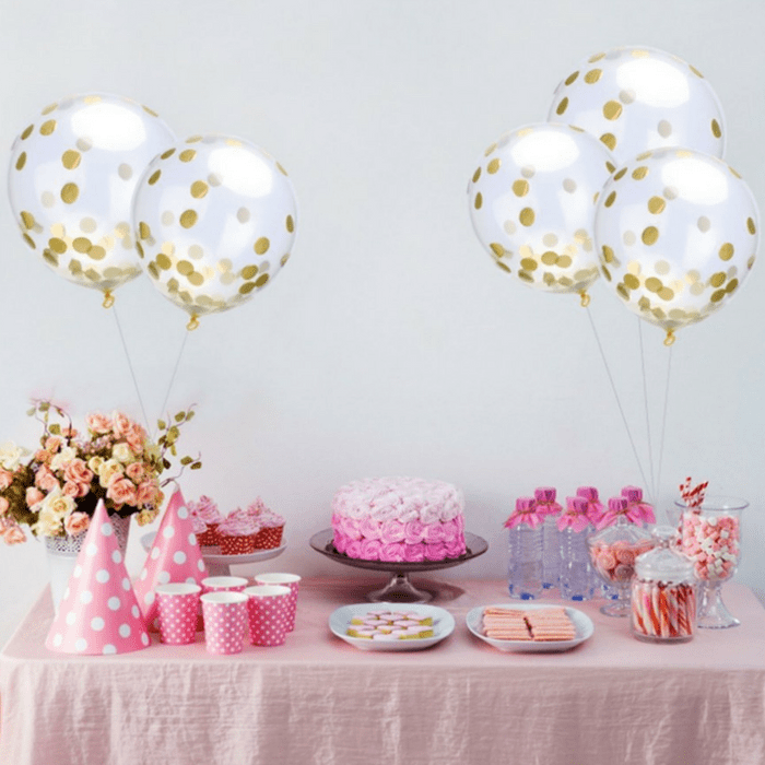 15-Piece Gold Confetti Balloons Just $4.99! Down From $9!
