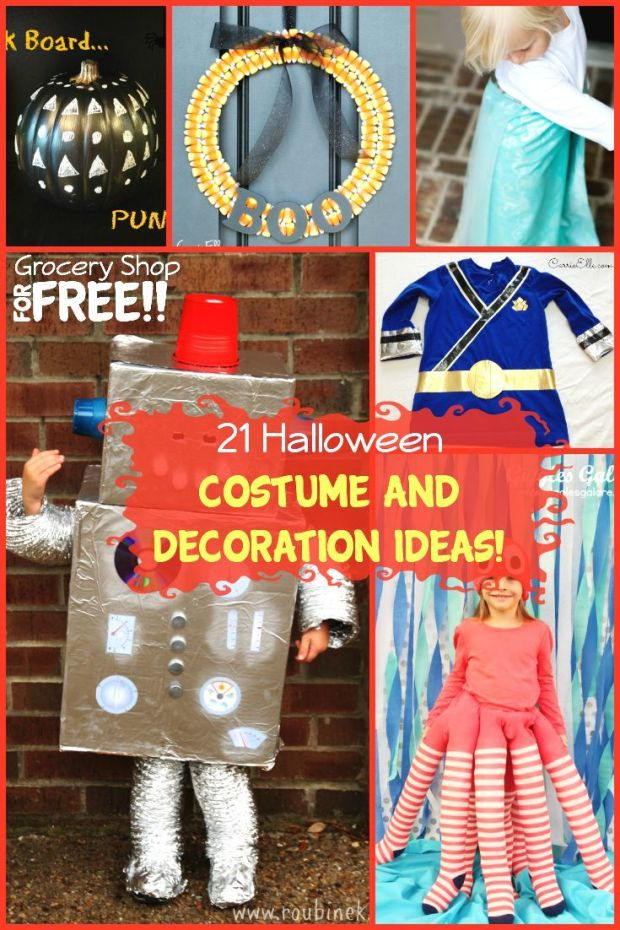 Are you in need of some quick DIY Halloween costume ideas and decoration ideas?  Well, these Halloween decorations and Halloween costumes might just fit the bill!