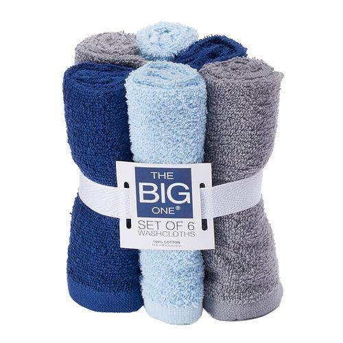 The Big One 6-Pack Washcloths Only $2.79 Down From $9.99 At Kohl's!