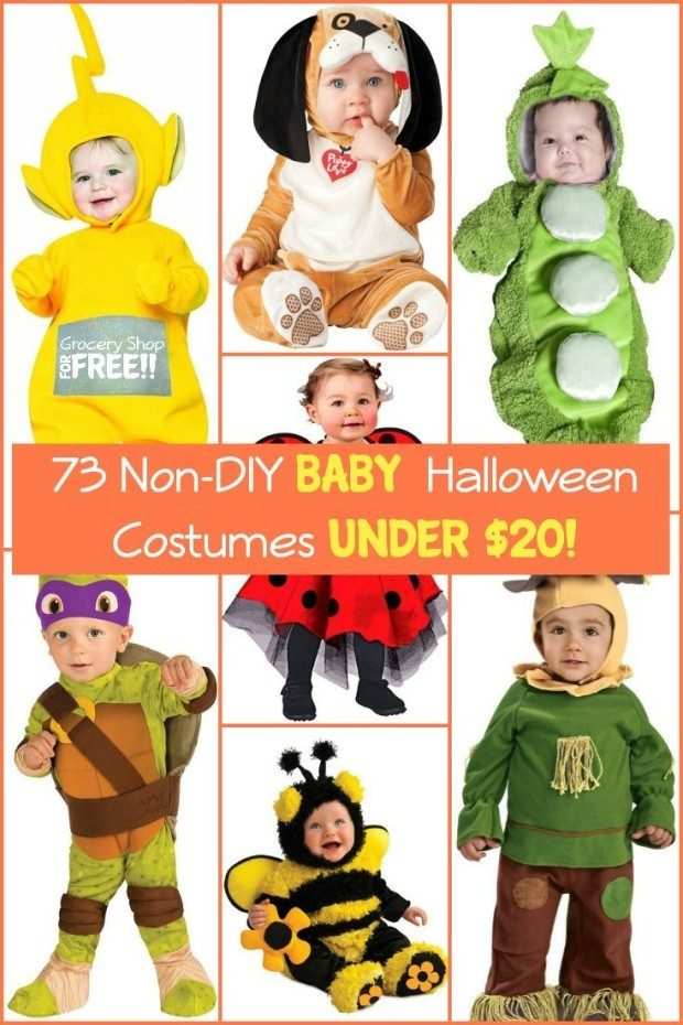 73 Non-DIY Baby Halloween Costumes Under $20! pin