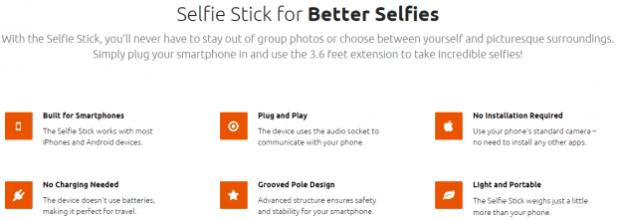 Selfie Geeks Selfie Stick Just $19.95!  Comes In 3 Colors!