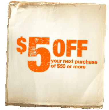 $5 Off $50 At Home Depot!