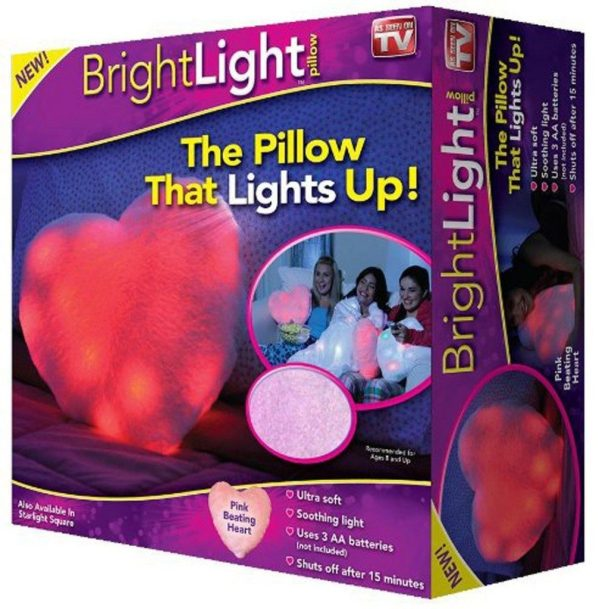 Bright Light Pillow As Seen On TV - Pink Beating Heart $6.79 + FREE Shipping with Prime!