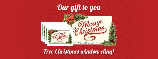 FREE Christmas Window Cling!