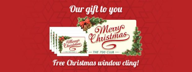 FREE Christmas Window Cling!