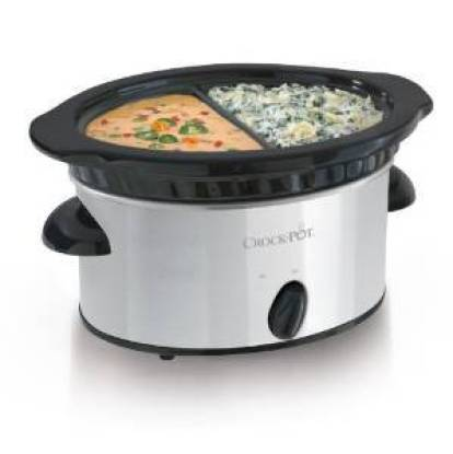 Crock-Pot Double Dipper Warmer Slow Cooker