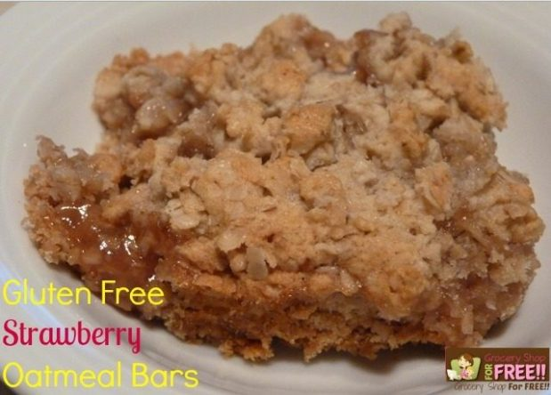 Gluten-Free Strawberry Oatmeal Bars!