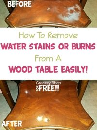 How To Remove Water Stains Or Burns From A Wood Table Easily!