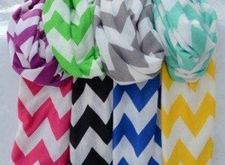 Jersey Knit Chevron Infinity Scarves Only $5.99!
