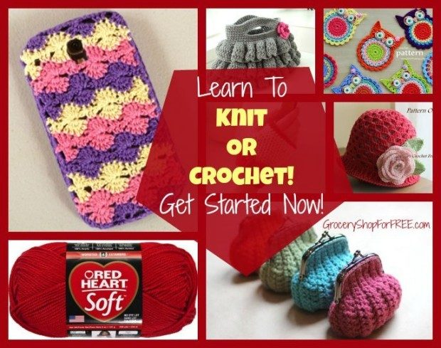 Learn To Knit Or Crochet! Get Started Now!