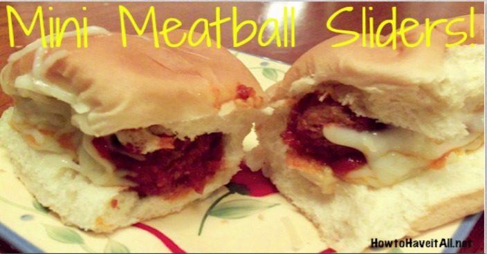Mini Meatball Sliders Recipe!