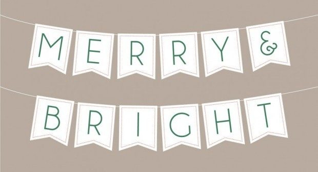 FREE Merry & Bright Banner Download!