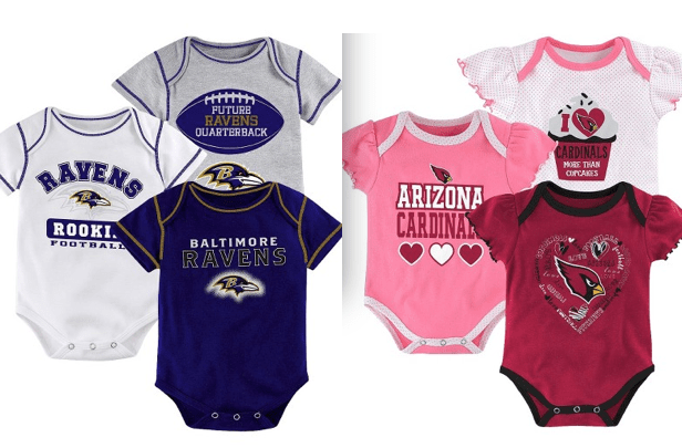 NFL Onesies - 3 Pack Up To 70% Off!