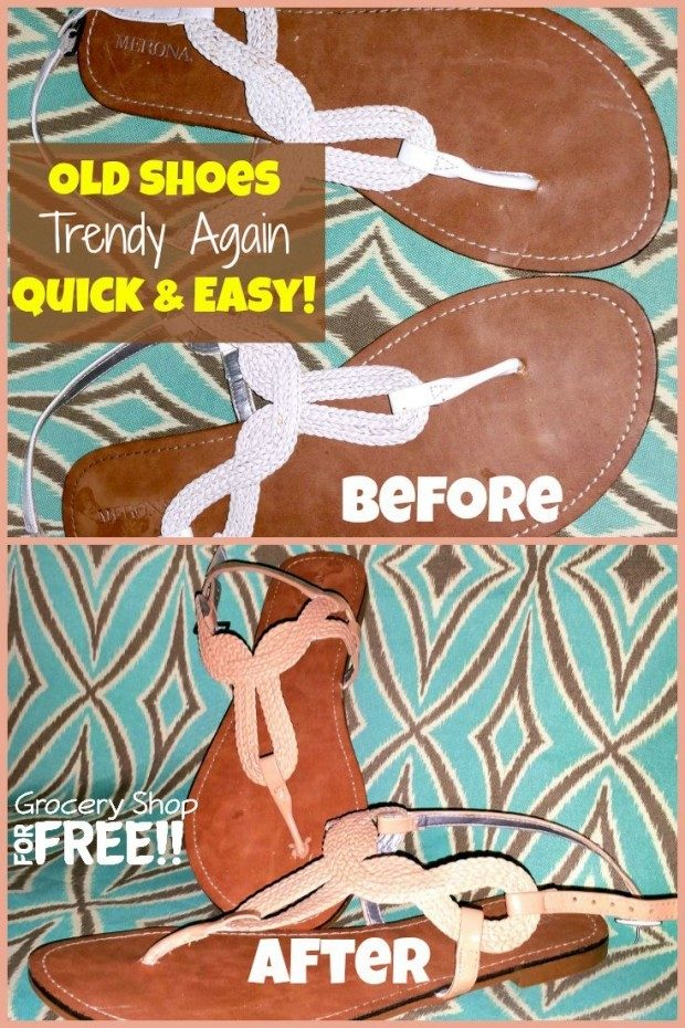 Old Shoes Trendy Again Quick & Easy!