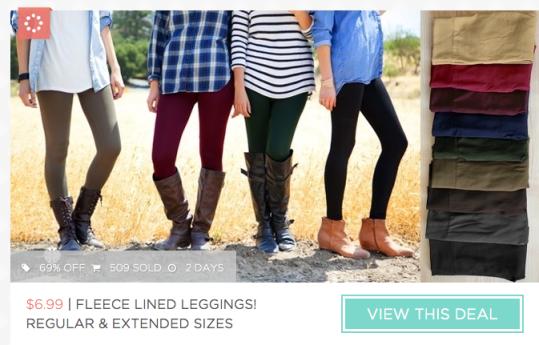 Fleece Lined Leggings Only $10.98 Shipped (Reg. $20+)!