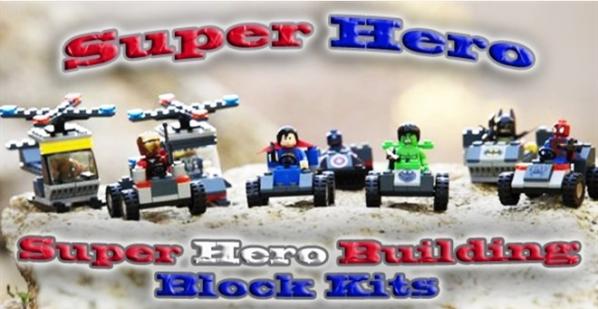 Super Hero Building Block Kits (Spider-man, Superman + more) Just $6.99 (Reg. $14.99)!