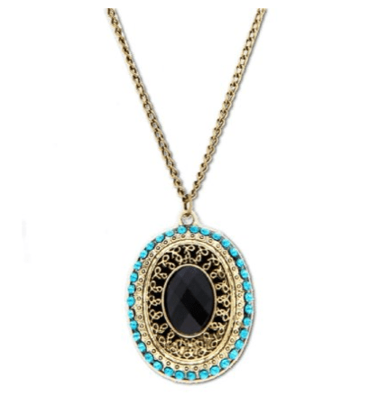 Vintage Bronze & Turquoise Necklace Only $1.83 + FREE Shipping!