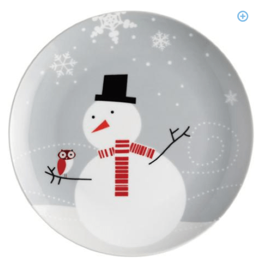 Rachael Ray 4-piece Little Hoot and the Snowman Plate Set Only $9 + FREE Store Shipping (Reg. $14.96)!