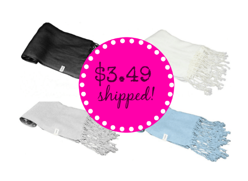 Pashmina Scarves Only $3.49 + FREE Shipping (TONS of Colors)!