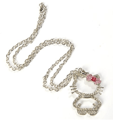 Hello Kitty Figure Necklace Pendant Bowknot Pink Only $3.88 + FREE Shipping!