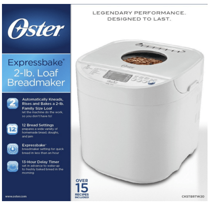 Oster 2-Pound Expressbake Breadmaker Just $48!  FREE Shipping!