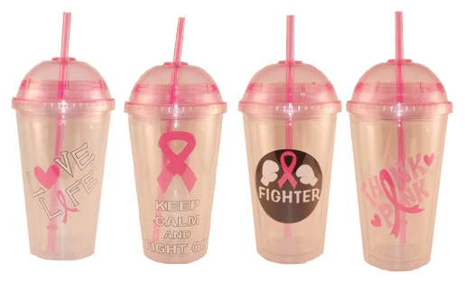 Dome Cap Pink Ribbon Cup Only $4.99! Down From $19.99! Ships FREE!