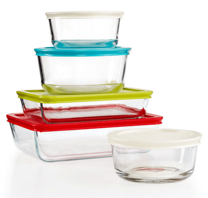 Pyrex 10-Piece Simply Store Set With Colored Lids Only $11.24! Down From $39.99! Ships FREE!