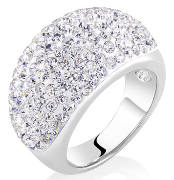 Pavé-Set Crystal Dome Band Ring Only $10.99! Ships FREE!