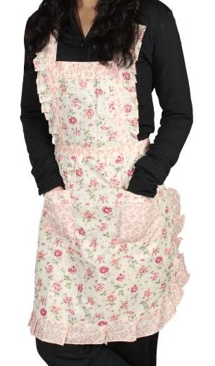 rose pattern apron