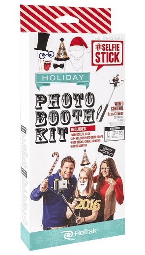 ReTrak Selfie Stick Holiday Photo Booth Prop Kit Just $5.99 Down From $14.00 At Best Buy!