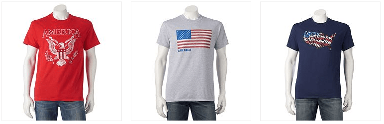 Men's Patriotic T-Shirts Only $2.55! Down From $10!