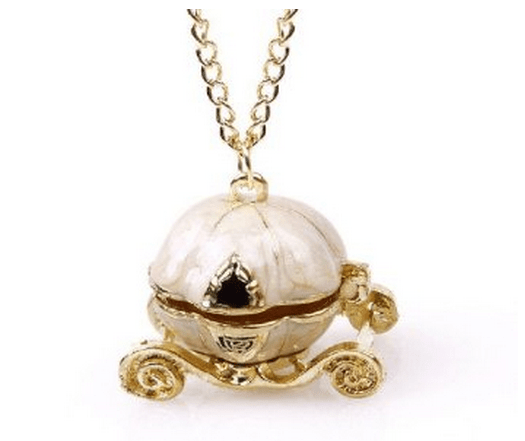 Vintage Cinderella Pumpkin Carriage Locket Necklace Only $2.28 With FREE Shipping!