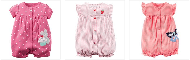 Carter's Rompers Only $5.50! Down From $14.00!